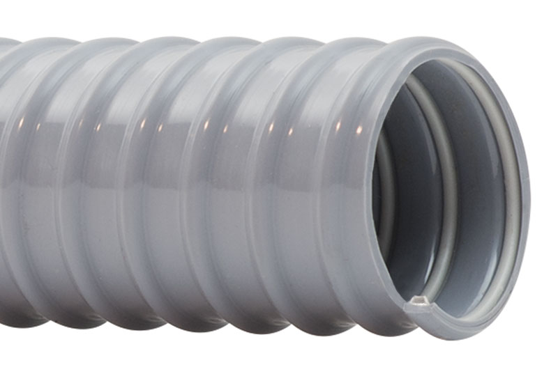 6 ID 6-3//8 OD 25 Length Hi-Tech Duravent Vac-U-Flex TPE Series Thermoplastic Vacuum Hose Black
