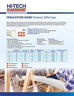 Insulation Hose Offerings